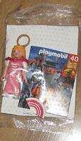 New Playmobil Figure Queen princess lady crown fan pink
