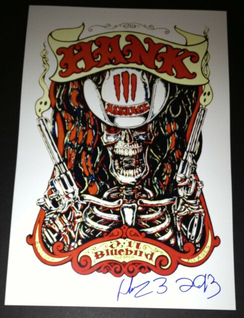 HANK WILLIAMS III SIGNED 12X18 CONCERT POSTER ASSJACK 3 SUPERJOINT RITUAL 5