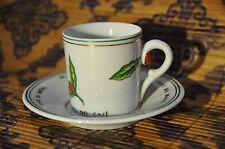 "Coffee DEMITASSE Cup and Saucer ""IBC""  instituto Brasileiro do cafe SCHMIDT"