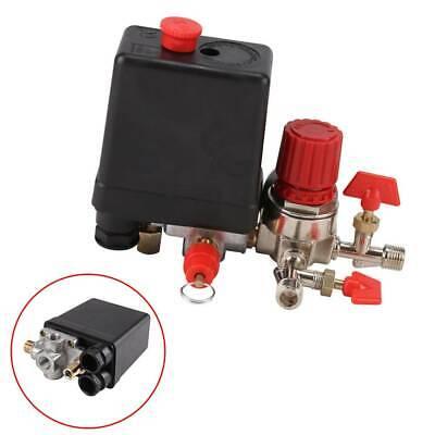 125PSI Compresseur d/'air Pressostat vanne de régulation collecteur Régulateur Jauges