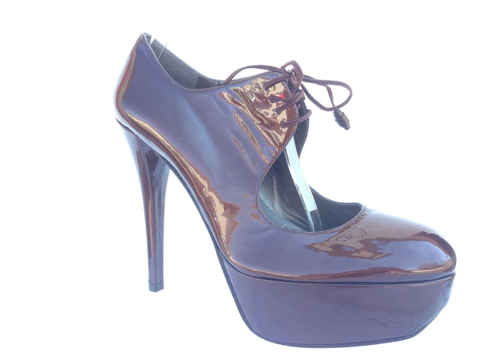 Display  Stuart Weitzman Time Platform Lace Up avvioie Pumps Heels 8.5 NWOB  595