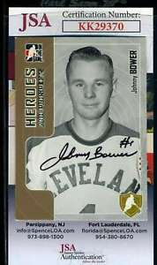 Johnny-Bower-JSA-Coa-Hand-Signed-2005-In-The-Game-Autograph