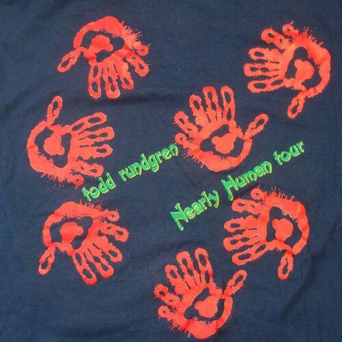 TODD RUNDGREN: Nearly Human Tour T-Shirt, Vintage 1989 Rock Larg