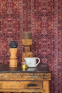 Tapete Orientalisches Muster vlies tapete orientalisches wandteppich muster bordeaux rot ethno