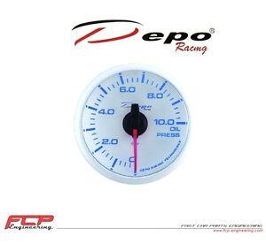 DEPO-RACING-BLAU-WEISS-DIGITAL-OLDRUCK-ANZEIGE-OIL-PRESSURE-GAUGE-WBL5227W