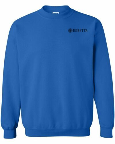 Beretta Script Black Chest Logo Crewneck Sweatshirt 2nd Amendment Pro Gun Rifle