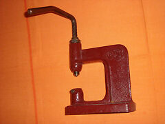 Vintage leather machine punch press tool marked
