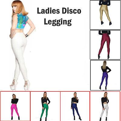 Nuovo Fit Skinny Donna Vita Alta Discoteca Lucido Effetto Bagnato Leggings Pantaloni Danza Lotto-mostra Il Titolo Originale Rafforza Tendini E Ossa