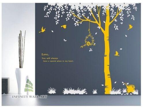 Wall Stickers Tree Flower Kids Art Murals Decals Butterfly Vinyl Decors--D64