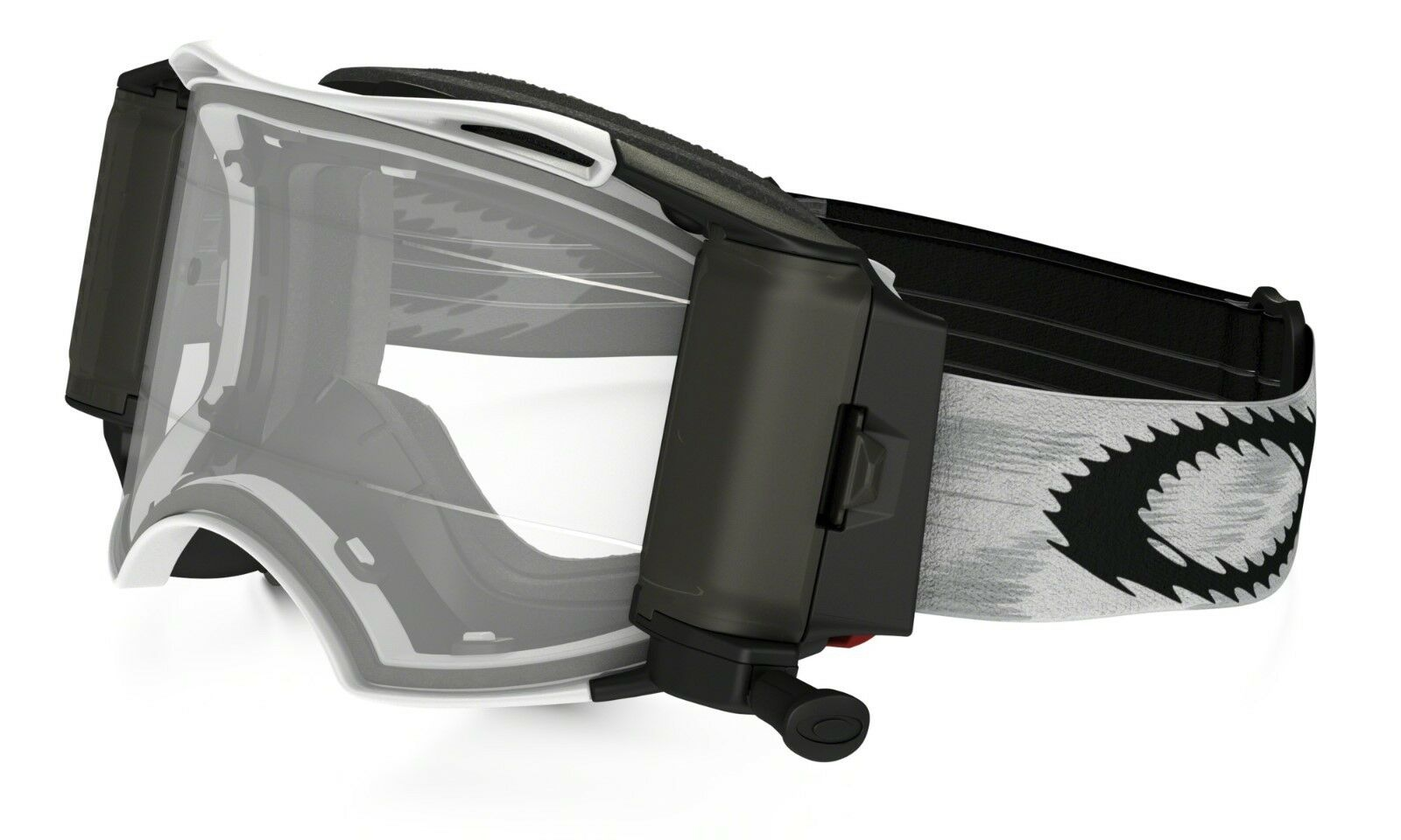 Oakley Airbrake MX Goggle Matte White Speed Clear Lens Inc Roll Offs