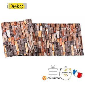 Retro 3d Pvc Papier Peint Simulation Briques Decoration Brique Rouge