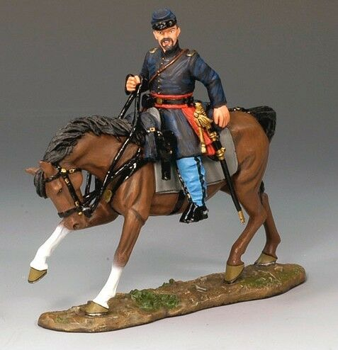 King &Country CW038 ACW Union Mountted Officer - Retiröd - Mint in the låda
