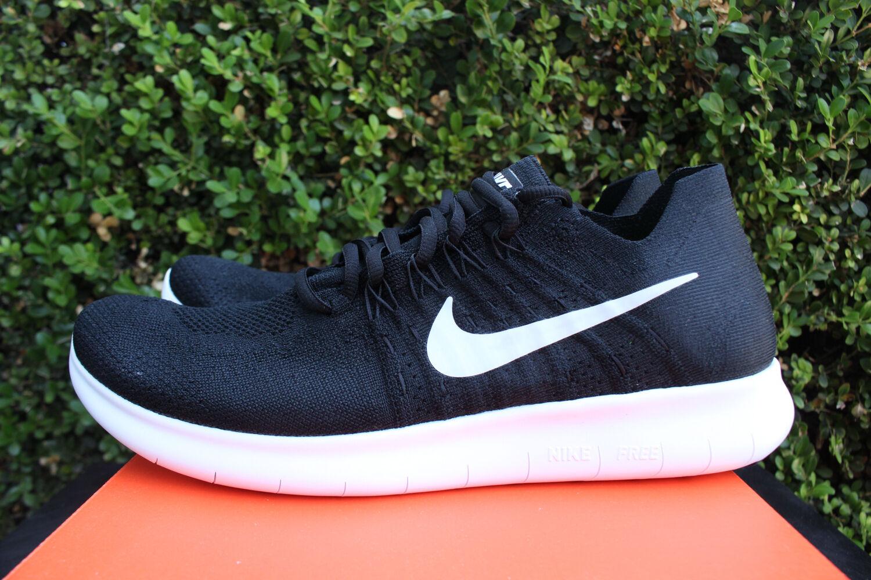 Nike libera rn flyknit 2017 - sz bianco nero grigio scarpe da corsa 880843 001