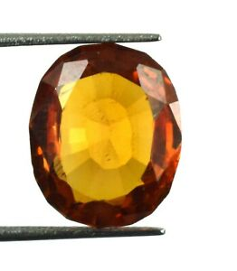 100% Natural Oval 10.75 Ct Padparadscha Orange Sapphire Gemstone Certified L5878