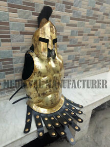 X-Mas Medieval 18G Steel Body Armour Muscle Jacket Medieval Roman Jacket