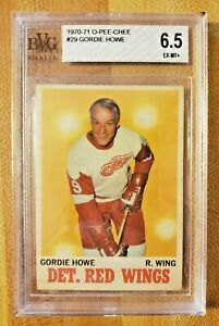 Beckett-BVG-6-5-Graded-1970-71-O-Pee-Chee-Gordie-Howe-29-BGS-Detroit-Red-Wings