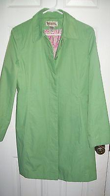 NICE MICHAEL KORS Citrus Green Women's Jacket Spring Rain Coat Size SM EUC