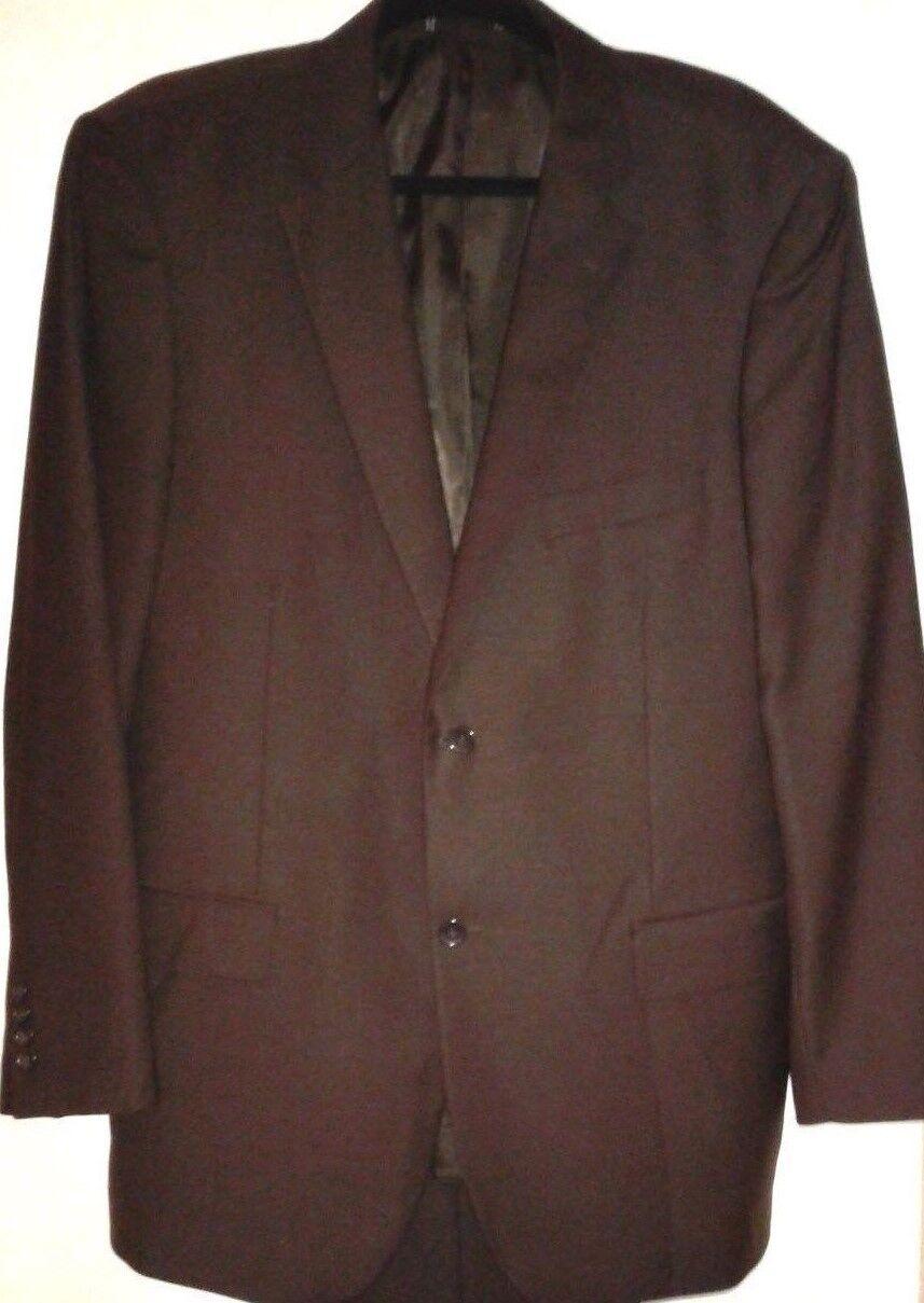 Emanuel by Emanuel Ungaro  Herren 44R Suit 2 Button Dark Braun Wool Pants 38W x 31L