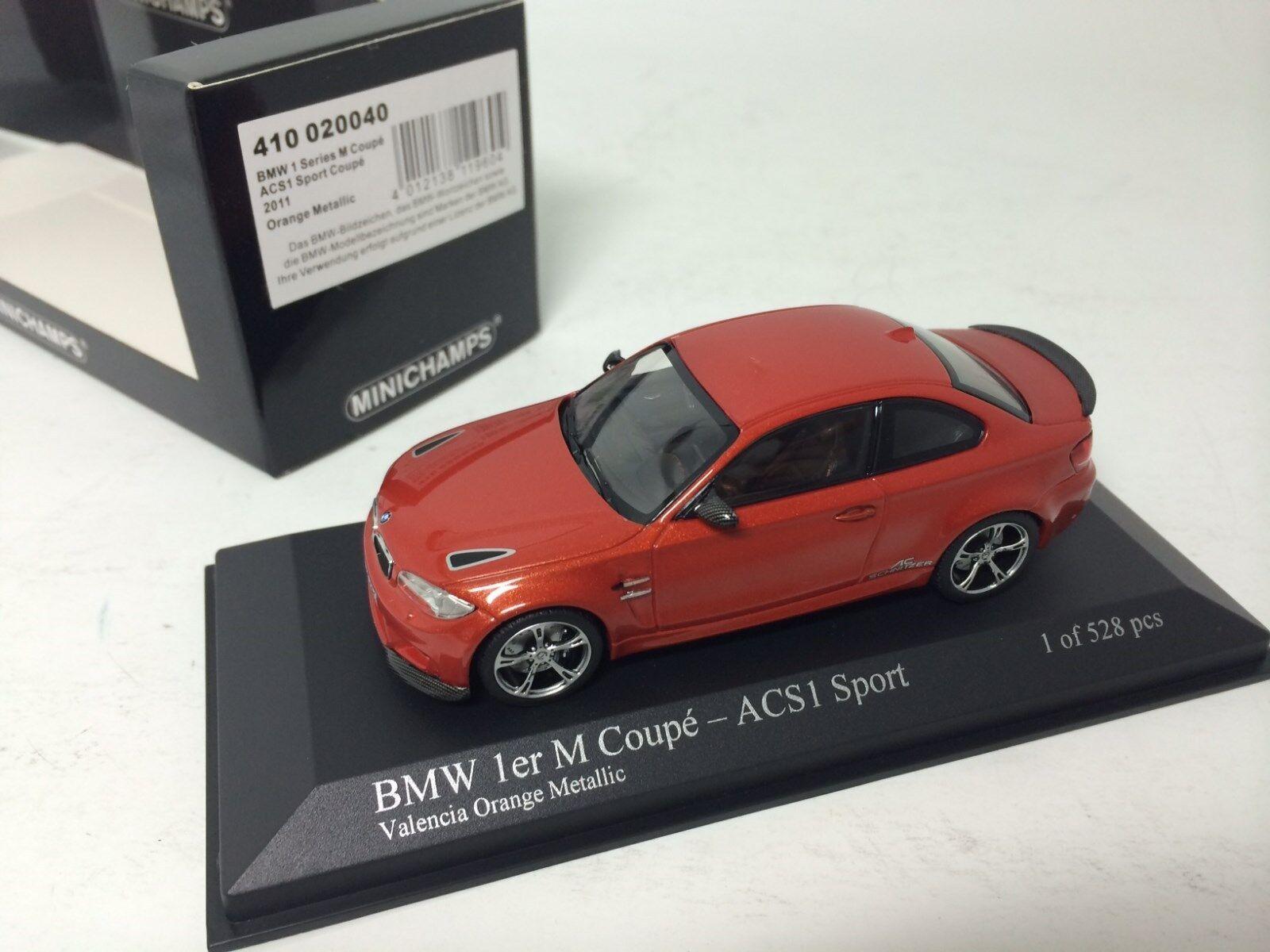 1  43 Minichamps BMW -1 -serie M Coupe 2011 orange Met.1M ACS1 Sport 41000040