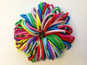 12 24 36 50 Filles Qualité Coloré élastiques à Cheveux épais Bandes Bobbles Ponios