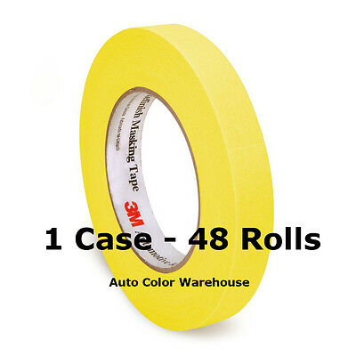 1 Case/48 Rolls - 3M™ - Yellow Masking Tape - 3/4""