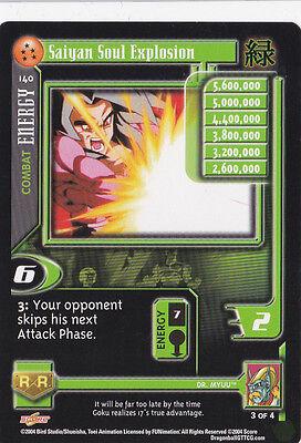 Saiyan soul explosion ccg tcg card dbgt dragon ball gt 5 stars