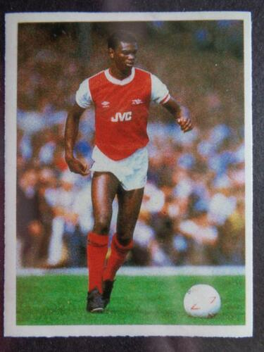 Daily Mirror Stick With Soccer 1986-87 Arsenal Paul Davis