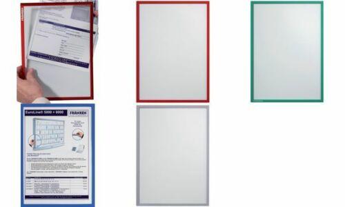 FRANKEN Frame it X-tra Line Sichttasche grauer Rand DIN A5 Dokumentenhalter