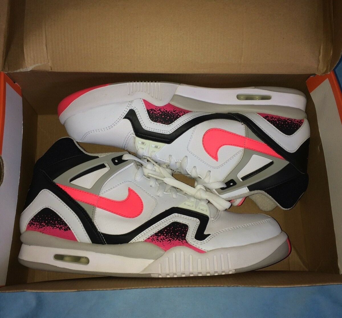 NIKE AIR TECH CHALLENGE II, AGASSI LAVA OG, SIZE 13, NEW IN BOX, RARE 2008 ISSUE
