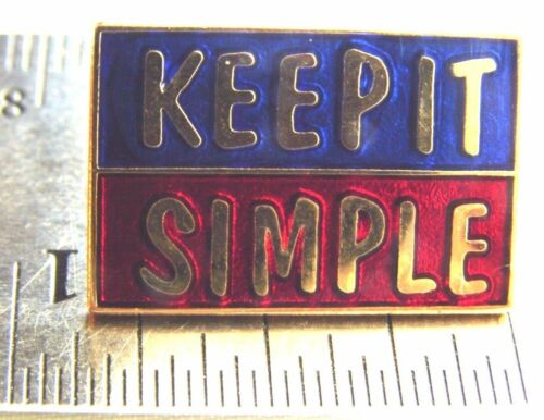 Alcoholics Anonymous KEEP IT SIMPLE AA Lapel Hat Vest Pin NA Recovery Sobriety