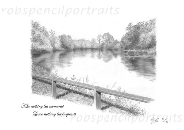Ingegnoso Piscina Redmire Art Print Picture Presenti Per Carp Angler Pescatore Carpa Iconica