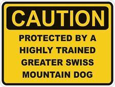 Razza di cane Grande Bovaro Svizzero attenzione Adesivo PET PER PARAURTI PORTIERA