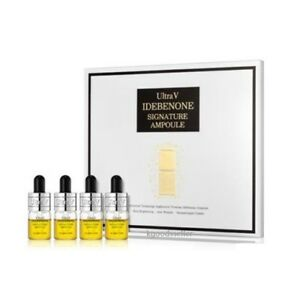 Details about Ultra V New IDEBENONE Ampoule 4 ea Set Whitening Lifting  Wrinkle Free Tracking