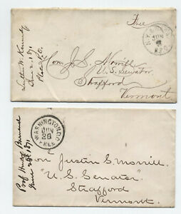 1871-2-stampless-covers-to-Justin-Morrill-us-senate-1-RPO-y5983