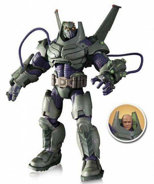 DC Comics súper Villanos blindado traje Lex Luthor Figura De Acción De Lujo-Nuevo