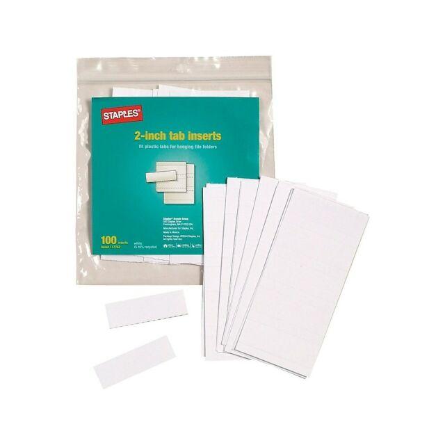 12pk AVERY 11136 WORKSAVER 1//5 Cut PRINTABLE HANGING FILE 100 TAB INSERTS folder