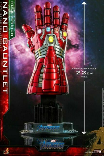 Hot Toys ACS 009 Avengers 4 Endgame 1//4 Scale Nano Gauntlet Movie Promo Edition