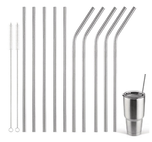 Metal-Drinking-Straws-Stainless-Steel-Drinks-Straw-Cleaner-Party-Reusable-Bar-Uk