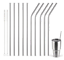 Metal-Drinking-Straws-Stainless-Steel-Drinks-Straw-Cleaner-Party-Reusable-Bar-Uk thumbnail 1