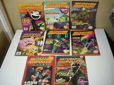 LOT (8) NINTENDO POWER MAGAZINES Vol. 71,23,72,19,24,37,40,33 1990s (WOW!)