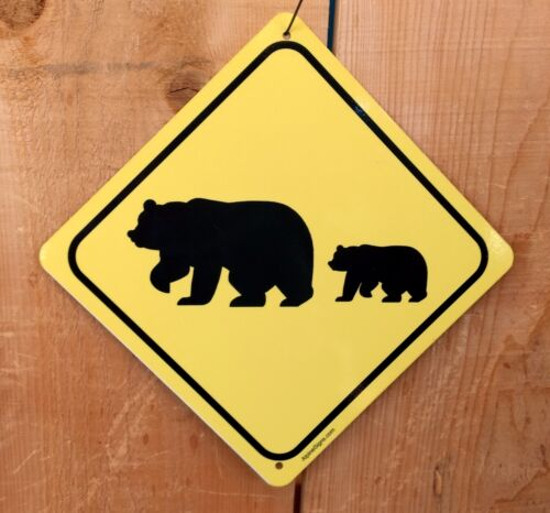 Bear Crossing Xing Symbol Highway Route Sign