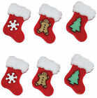 Dress It up Buttons Christmas Collection 6 Furry Stockings 3 Designs