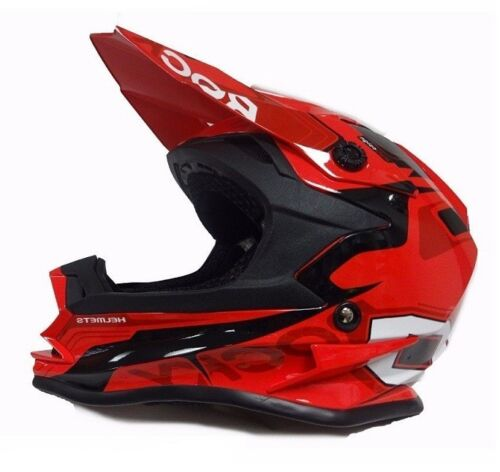 KIDS MX 3GO XK-188 ROCKY JUNIOR QUAD PIT BIKE ENDURO RACE OFF ROAD HELMET RED