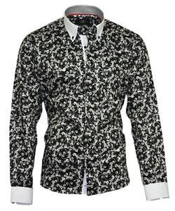 Herrenhemd-Herren-Hemd-Satin-Baumwolle-Binder-de-Luxe-83001-schwarz