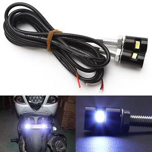 2x-Mini-Nummernschildbeleuchtung-LED-Lampen-Kennzeichenbeleuchtung-Motorrad-KFZ