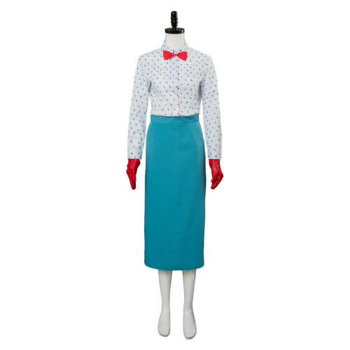 2018 Cosplay Mary Poppins 2 Mary Poppins Return Costume Christmas Suit Full Set