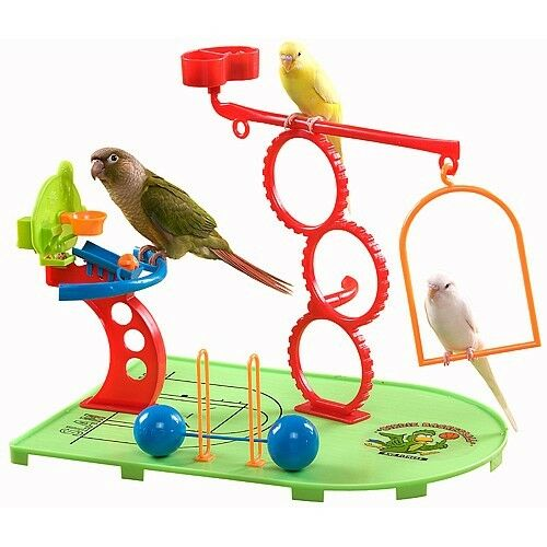 BIRDIE BASKETBALL & GYM PLAYGROUND WITH TREAT DISPENSER FOR SMALL PARredS