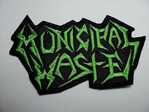 MUNICIPAL-WASTE-GREEN-LOGO-SHAPED-EMBROIDERED-PATCH