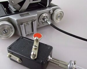 100% De Qualité Âge Même Déclencheur Avec Fil Déclencheur/vintage Selftimer + Cable-afficher Le Titre D'origine