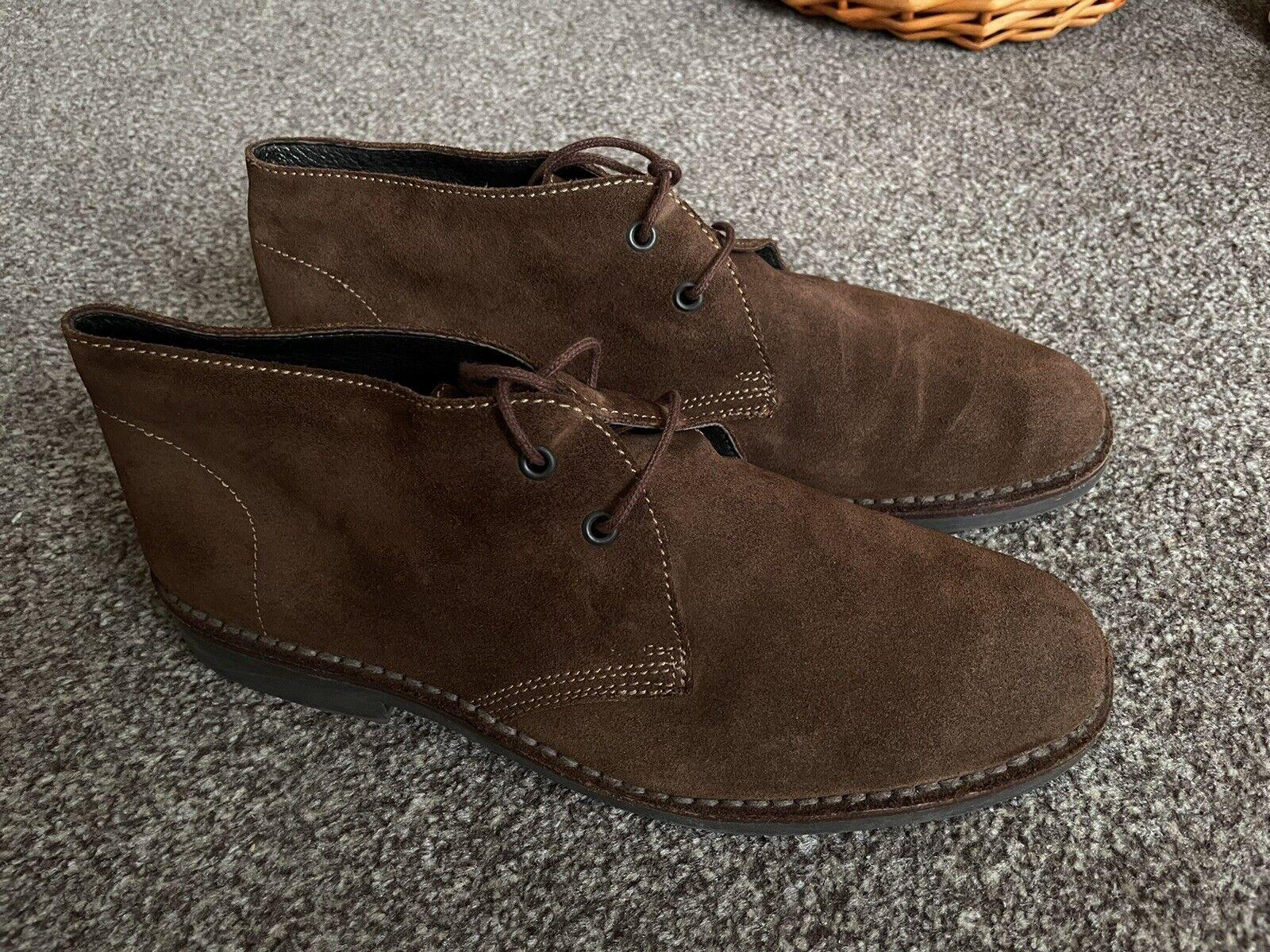 Kebo Dark Brown Men's Desert Boots Suede Size Eu42 UK8 RRP Clarks Shoes